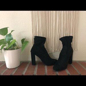 Black Steve Madden Sock Bootie